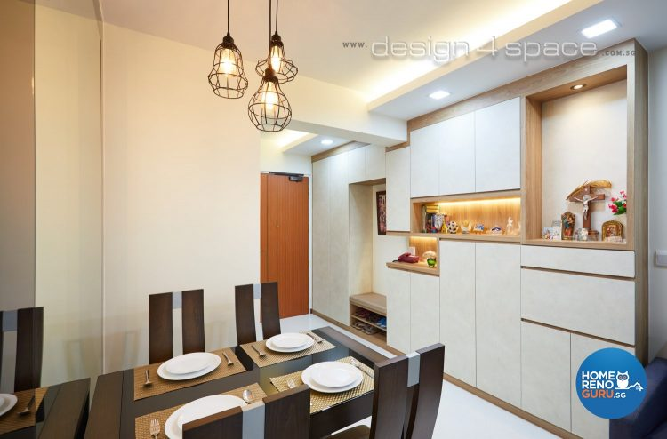 Dining room designed by Design 4 Space