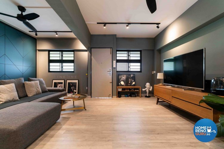 3 Room HDB Designed by Fineline Design (Modern)