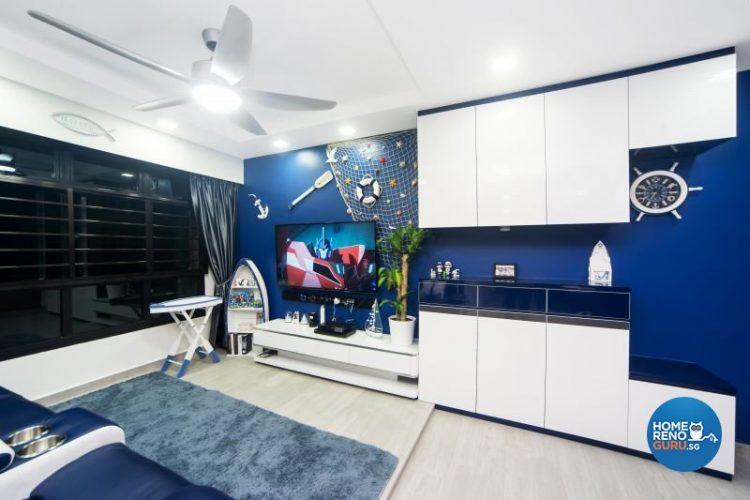 3 Room HDB Designed by Renozone (Nautical)