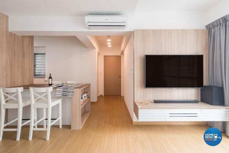 Scandinavian style 3 room hdb designed by swiss interior design