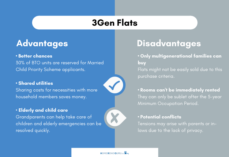 The advantages and disadvantages of 3Gen flats infographic