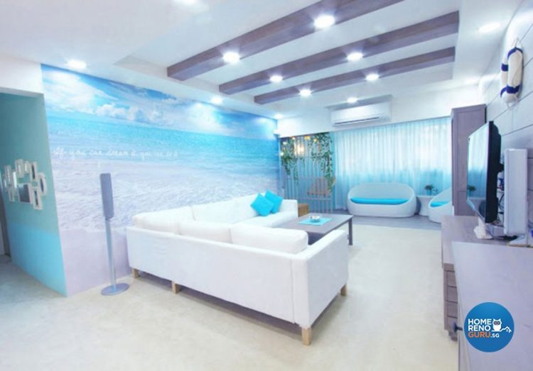 4 Room HDB Designed by Icon Interior Design (Nautical)