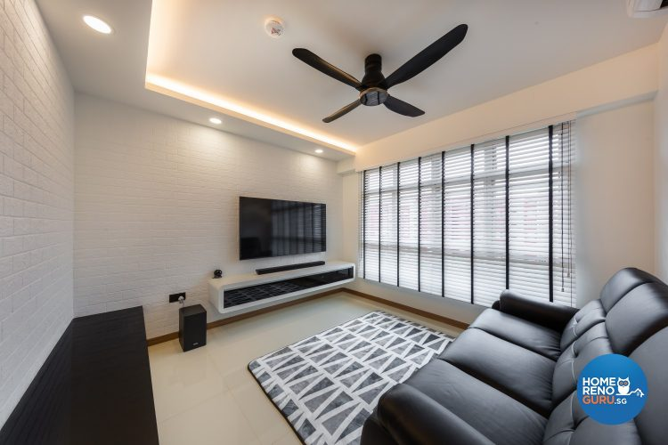 4 Room HDB Designed by Lome Interior (Monochrome)