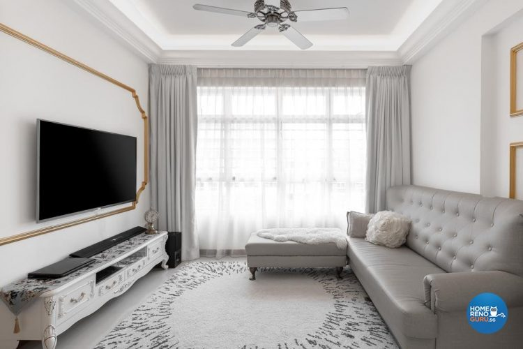 4 Room HDB Designed by Swiss Interior Design (Classical)