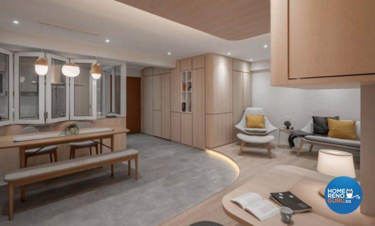 Scandinavian/Japanese style 4 room HDB