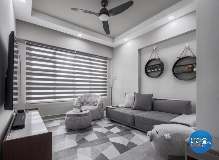 4 Room HDB Designed by Weiken (Monochrome)