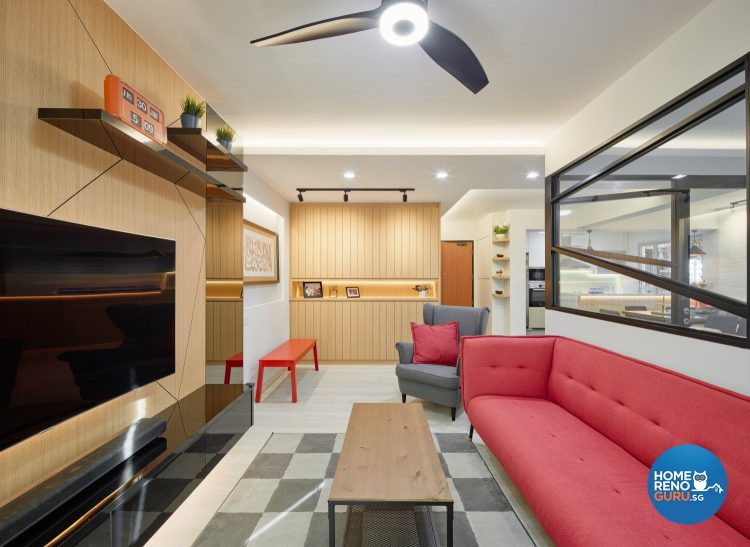 5 Room HDB Designed by Absolook (Eclectic)