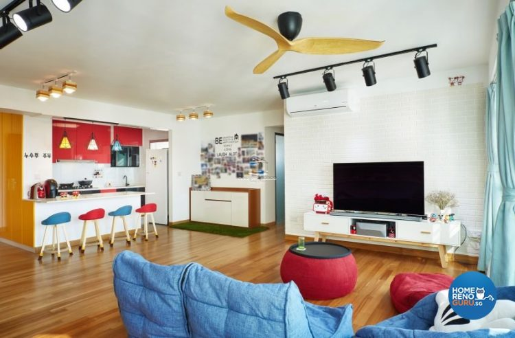 5 Room HDB Designed by Design4Space (Eclectic)