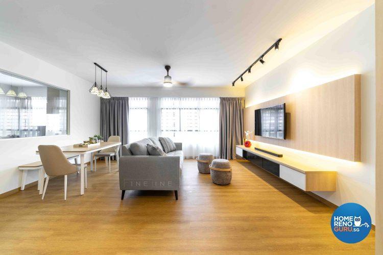 5 Room HDB Designed by Fineline (Modern)
