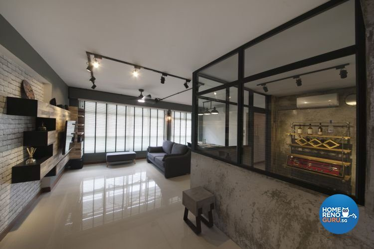 5 Room HDB Designed by Starry Homestead (Industrial)