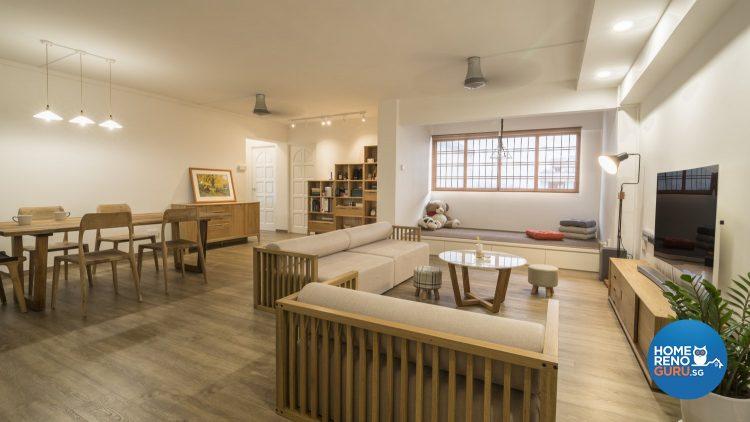 5 Room HDB Designed by Swiss Interior Design (Scandinavian)