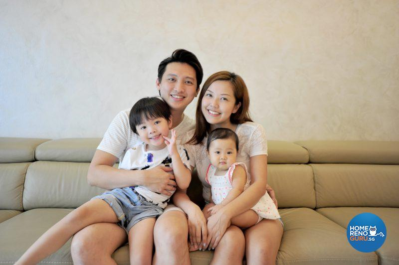 Chee Kwang, Geraldine, Jayven and little Shannon