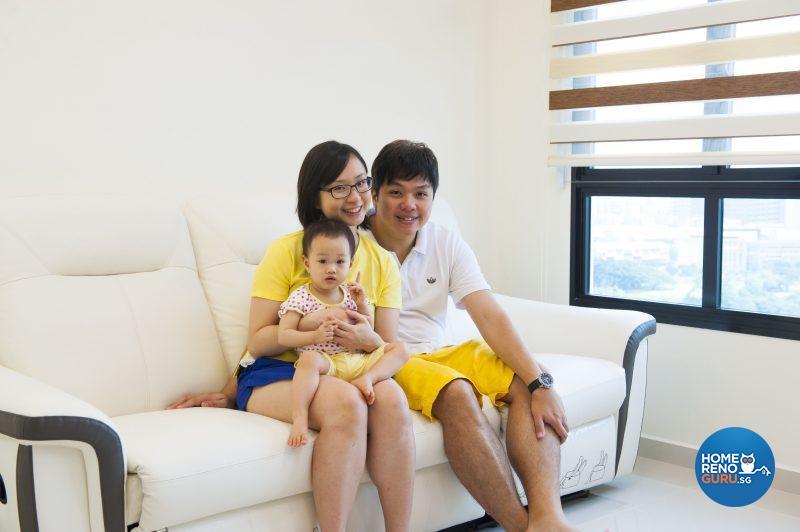 The happy family – Karen, little Katie and KK