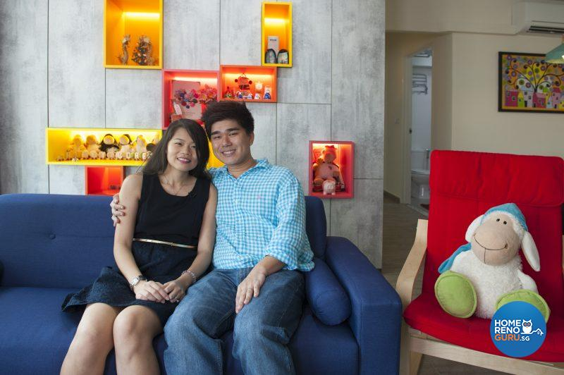 The happy couple of homeowners, Corene and Randy
