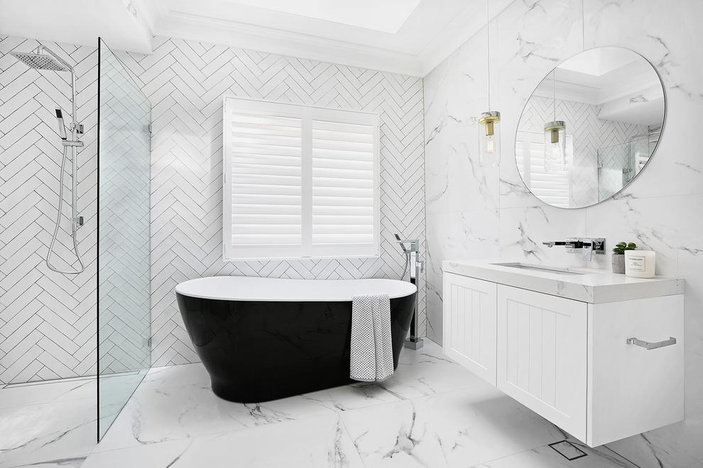 Quartz being used in bathroom surfaces