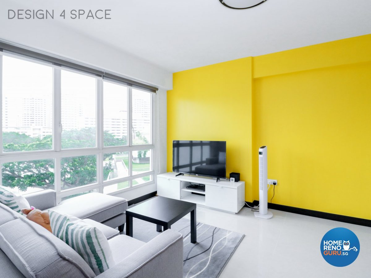 4 room HDB living room designed by Design 4 Space