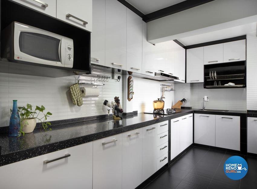 Granite Kitchen Counter Top in Singapore by Ritchie Creative Design