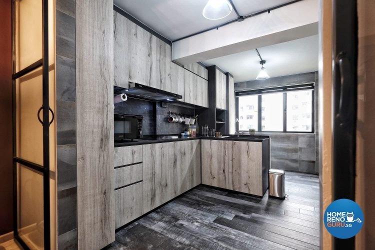 kitchen in 3 room HDB by United Team Lifestyle