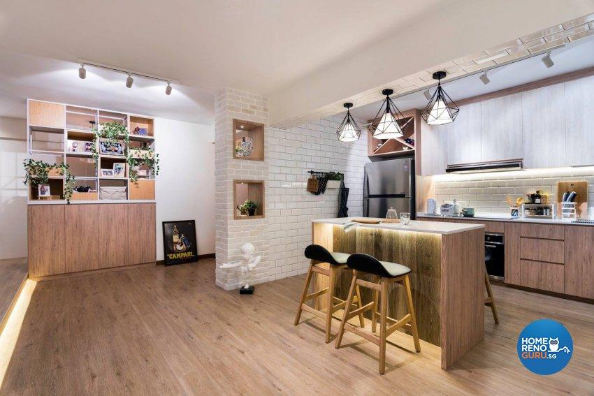 HDB 4 Room by Fineline Design
