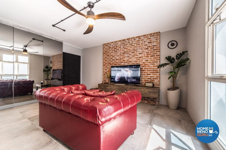 living room in HDB 4 room by Inspire ID