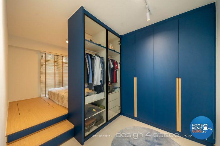 HDB 4-room L-shaped wardrobe (Design 4 Space)