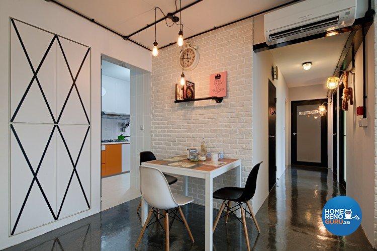 Dining room in 4 room HDB by Weiken.com