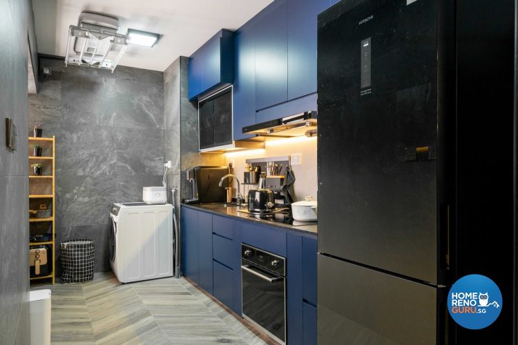 kitchen in HDB 4 room by Design 4 Space