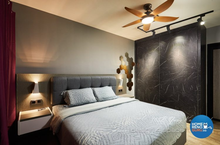 bedroom in 5 room HDB by Design 4 Space