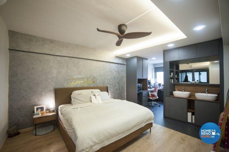 open space plan hdb 5-room bedroom by starry homestead