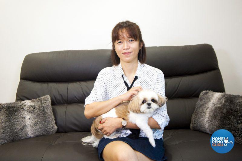 Clarissa and beloved pooch Yumi