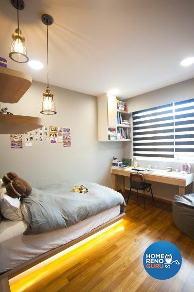 The retro industrial bedroom of Clarissa's daughter