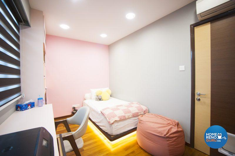 The metrosexual, predominantly pink room of Clarissa's son