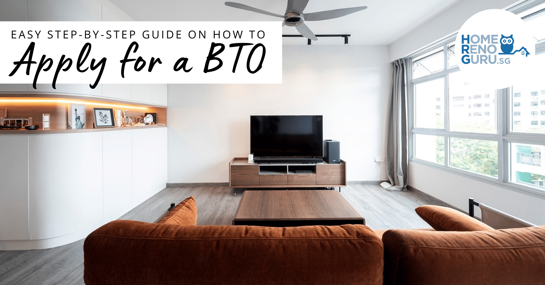 Living room of a BTO