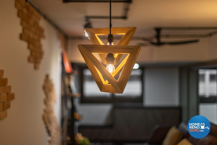 Industrial themed lighting by Swiss Interior Design