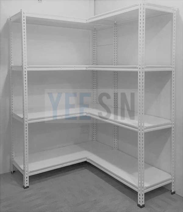 L-shape Boltless Storeroom Rack