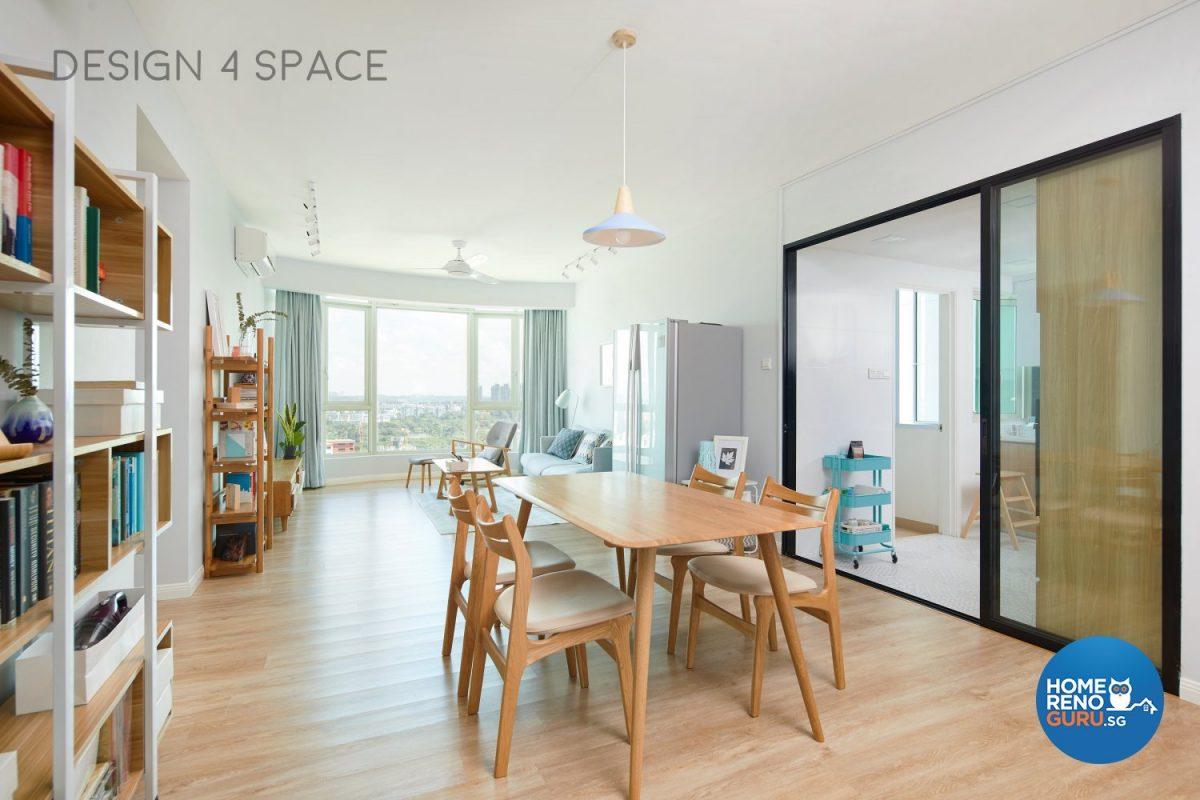 Living room of condominium designed by Design 4 Space