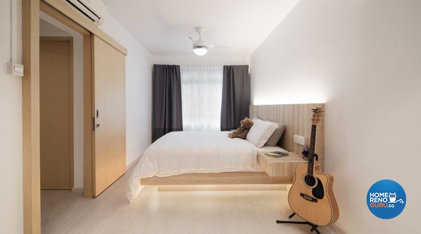 Bedroom in a 4 room HDB designed by Swiss Interior Design