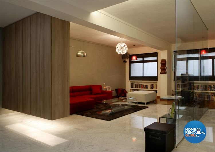 5 room HDB living room designed by Fuse Concept