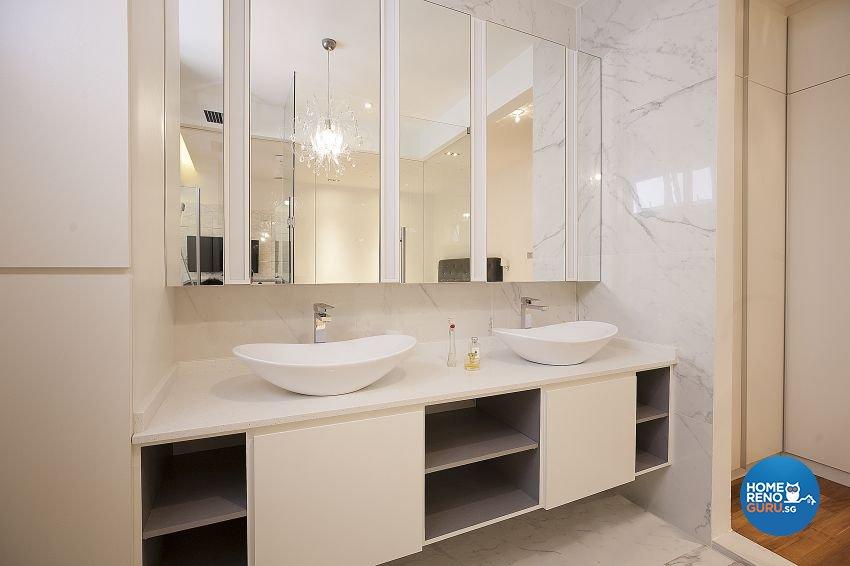 Quartz Vanity Counter by Renozone Interior Design