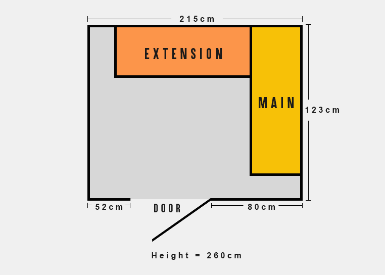 Sample storeroom dimensions for price quotation