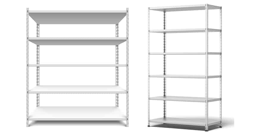 Standard boltless rectangle storeroom rack