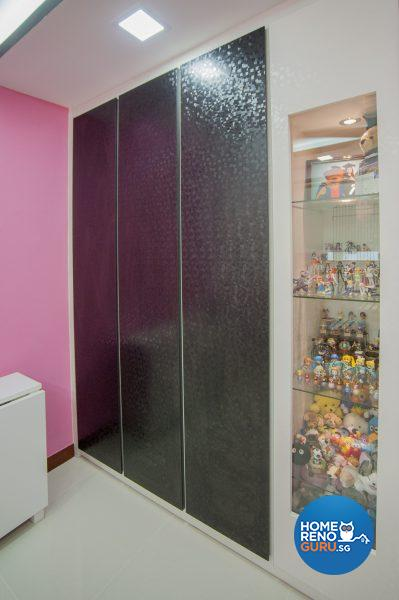 A glossy textured laminate in the spare room