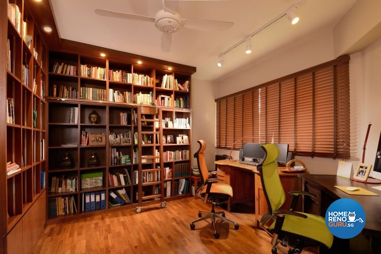 Study room of a condominium designed by Y-Axis ID