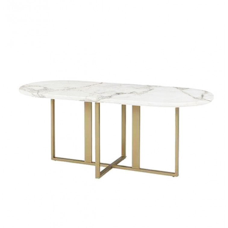 etch & bolts Marble Dining Table