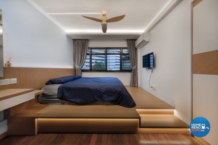 hdb 5-room bedroom design by Starry Homestead