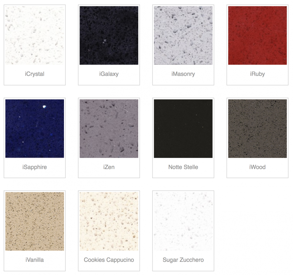 available colours in iQuartz's i-series