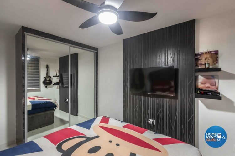 master bedroom by u-home with mirrors