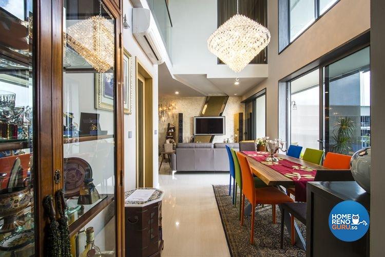 Modern, Scandinavian Design - Dining Room - Condominium - Design by 1 Works Pte Ltd