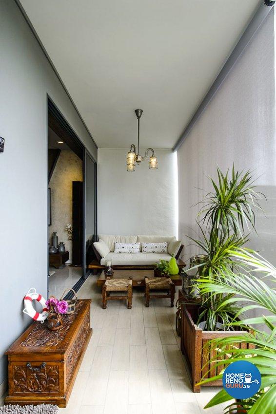 Modern, Scandinavian Design - Balcony - Condominium - Design by 1 Works Pte Ltd