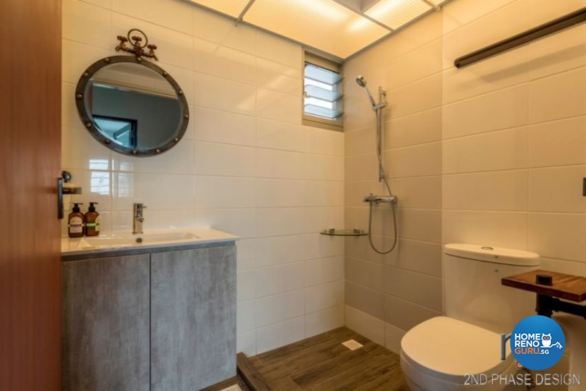 Industrial, Rustic, Scandinavian Design - Bathroom - HDB 3 Room - Design by 2nd Phase Design